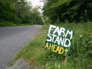 farm stand ahead