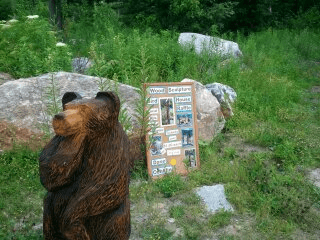 Dave Conklin Bear carving
