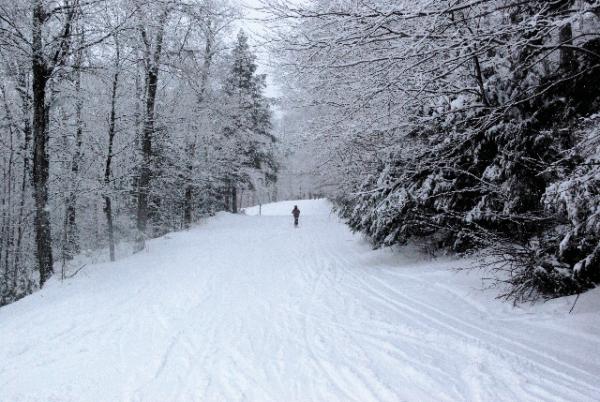 skiing at otis ridge ski area