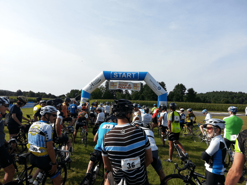 bike ride start