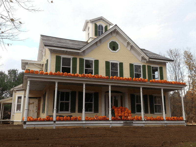 Campbell House decked out with pumkins